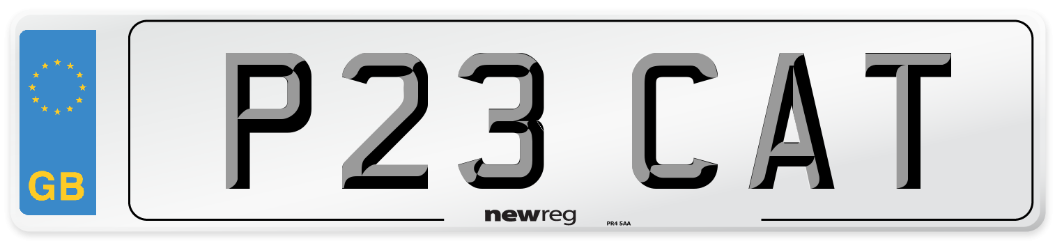 P23 CAT Number Plate from New Reg